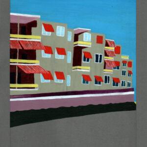 Flat aan de Lek painting